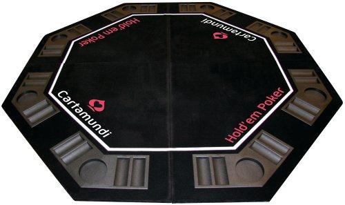 Cartamundi-108035327-Jeu-de-Socit-Diamond-Poker-Table-Top-Poker-Capacit-8-Joueurs-Pliage-x4-Housse-de-Transport-120-x-120-0