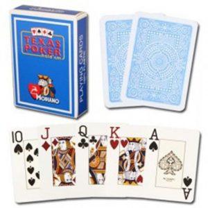 Cartes-Texas-Poker-100-plastique-bleu-clair-0