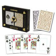 Copag-1546-100-plastique-pour-Parties-de-Poker-Jumbo-Index-Jeu-de-cartes--jouer-Noir-dos-dor-Lot-de-2-0-0