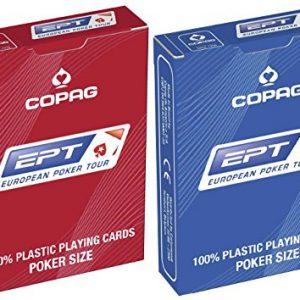 Copag-European-Poker-Tour-EPT-100-plastique-Cartes--jouer-Poker-Taille-Index-JUMBO-1-rouge-et-1-bleu-0