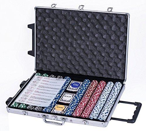 eSecure-Set-Poker-professionnelle-de-1000-pice-livr-avec-une-mallette-en-Aluminium-3-jeux-de-cartes-boutons-dealer-et-5-des-0