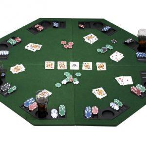 eSecure-Tapis-de-table-Poker-pliables-pour-8-joueurs-avec-plateau-de-jetons-de-poker-et-des-porte-boissons-0