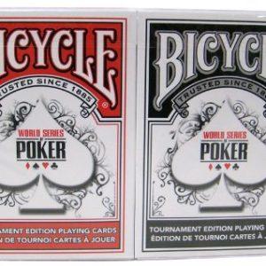 vlo-WSOP-de-cartes-plastifies-2-platines-de-taille-poker-index-rgulier-rouge-noir-Bicycle-WSOP-Plastic-Coated-Playing-Cards-2-Decks-Poker-Size-Regular-Index-RedBlack-0