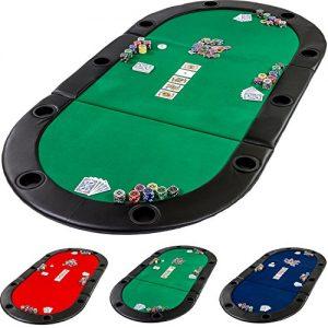 Pad-pliable-Deluxe-de-poker-avec-sac-L-208-x-P-106-x-H-3-cm-CHOIX-DE-COULEUR--Vert-Bleu-Rouge-panneau-MDF-massif-accoudoir-rembourr-dont-10-porte-gobelets-pliage-table-de-poker-0