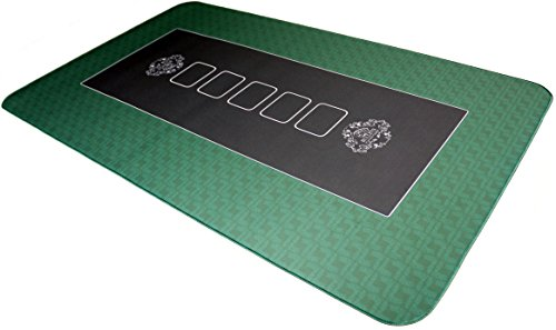 Pro-Tapis-de-Poker-100x60cm-Verts-de-Bullets-Playing-Cards-0