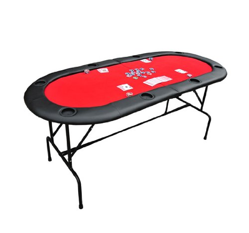 achat table avec pied plateau de poker casino ovale pliable pour 8 joueurs neuf. Black Bedroom Furniture Sets. Home Design Ideas