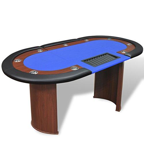 vidaXL-Table-de-poker-avec-lieu-de-croupier-et-bac-de-jetons-pour-10-joueurs-Bleu-0