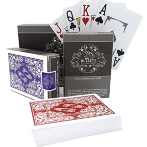 2-Jeux-de-Cartes-de-Poker-en-plastique-de-la-marque-Bullets-Playing-Cards-Index-Jumbo-0