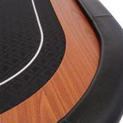 Dessus-de-table-de-poker-pliable-Champion-en-tissu-speed-noir-et-repose-bras-en-faux-cuir-180-cm-0-0