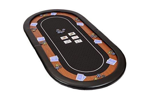 Dessus-de-table-de-poker-pliable-Champion-en-tissu-speed-noir-et-repose-bras-en-faux-cuir-180-cm-0
