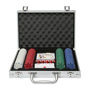 Global-Gizmos-Malette-de-Poker-Dsjetonscartes-Dans-un-tui-en-aluminium-200-pices-0