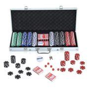 Malette-professionnelle-de-Poker-500-jetons-2-jeux-de-cartes-5-ds-bouton-dealer-2-cls-alu-neuf-14-0