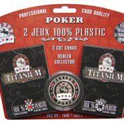 2-JEUX-CARTES-100-PLASTIC-POKER-TITANIUM-DEALER-0