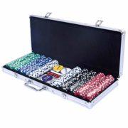 COSTWAY-Malette-Poker-Jetons-Poker-Ensemble-de-500-Jetons-2-Jeux-de-Cartes-5-Ds-1-Bouton-Dealer-Mallette-en-Aluminium-0