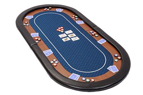 Dessus-de-table-de-poker-pliable-Champion-en-tissu-speed-bleu-et-repose-bras-en-faux-cuir-180-cm-0