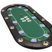 Dessus-de-table-de-poker-de-200-cm-pliable-et-habill-de-vert-Speed-Cloth-par-Riverboat-0