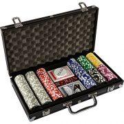 Maxstore-20030018-Coffret-de-poker-ultime-Black-Edition-300-jetons-laser-12-g-avec-insert-en-mtal-2-jeux-de-cartes-en-plastique-5-ds-1-bouton-dealer-mallette-noire-en-aluminium-0-1