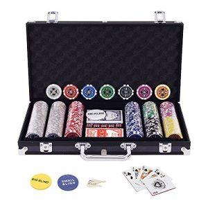 Display4top-Set-de-Poker-300-jetons-Laser-Haute-qualit-12-g-Noyau-en-MtalNoir-avec-tui-en-Aluminium-2-Jeux-de-Cartes-revendeur-Petit-Store-Gros-Boutons-aveugles-et-5-Ds-0