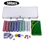 GOPLUS-Mallette-PokerCoffret-de-Poker-avec-500-JetonsEtui-en-Aluminium-Noyau-Mtallique-2-Jeux-de-Cartes-5-Ds-1-Tapis-0