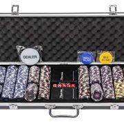 Riverboat-Gaming-Mallette-de-jetons-Pro-Poker-Ensemble-de-500-jetons-de-Poker-numrots-chacun-de-14-g-et-Les-Accessoires-gratuits-0