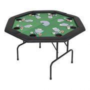 vidaXL-Table-de-Poker-Pliable-pour-8-Joueurs-2-Plis-Octogonale-Vert-Maison-0-1
