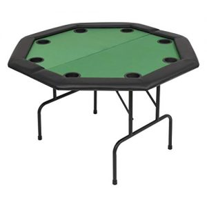 vidaXL-Table-de-Poker-Pliable-pour-8-Joueurs-2-Plis-Octogonale-Vert-Maison-0
