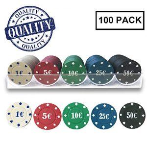7-fuerte-Transparentes-Solides-100-jetons-de-Pokerpour-Le-Poker-Casino-et-Jeux-0