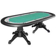 AUTRES-Table-de-Poker-Ovale-Bellini-California-avec-Dining-Top-Tapis-Micro-sude-Bords-Mousse-et-Simili-Cuir-0-0