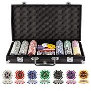 Grandma-Shark-Malette-Poker-Jetons-Poker-Ensemble-de-300-Jetons-2-Jeux-de-Cartes-5-Ds-1-Bouton-Dealer-Mallette-en-Aluminium-0