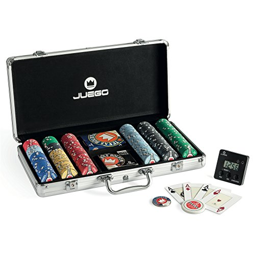 JUEGO-Set-de-poker-comprenant-300-jetons-Poker-Chips-Pro-Ceramic-touch-casino-des-cartes-Texas-Holdem-un-chronomtre-et-un-croupier-0