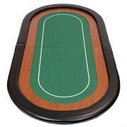 Riverboat-Gaming-Dessus-de-table-de-poker-pliable-Champion-en-tissu-speed-vert-et-repose-bras-en-faux-cuir-180-cm-0-0