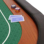 Riverboat-Gaming-Dessus-de-table-de-poker-pliable-Champion-en-tissu-speed-vert-et-repose-bras-en-faux-cuir-180-cm-0-1