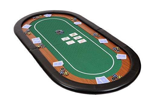 Riverboat-Gaming-Dessus-de-table-de-poker-pliable-Champion-en-tissu-speed-vert-et-repose-bras-en-faux-cuir-180-cm-0