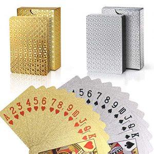 joyoldelf-Lot-de-2-Jeu-de-Carte-Cartes-de-Poker-Impermable-en-Feuille-24K-avec-Bote-Cadeau-Outil-de-Tours-de-Magie-Classique-pour-la-Fte-et-Le-Jeu-1-Or-1-Argent-0