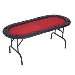 Homcom-Table-de-Poker-Casino-Ovale-Pliable-sur-Pieds-8-Joueurs-Max-Rouge-et-Noir-0