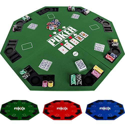 Maxstore-Pliable-pour-jusqu-8-Joueurs-de-Poker-octogonal-Dimensions-120-x-120-cm-Panneau-MDF-8-Porte-gobelet-8-Chip-Moyenne-Vert-0