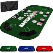 Maxstore-Tapis-de-Poker-Pliable-XXL-pour-Jusqu-8-Joueurs-160-x-80-cm-Panneau-MDF-8-Porte-gobelets-8-bacs--jetons-Vert-0