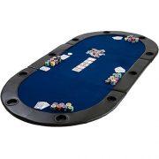 Table-de-Poker-Pliante--Poser-Deluxe-avec-Sac-de-Transport-208-x-106-x-3-cm-Panneau-MDF-accoudoires-rembourrs-10-Porte-gobelets-0-0