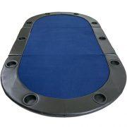 Table-de-Poker-Pliante--Poser-Deluxe-avec-Sac-de-Transport-208-x-106-x-3-cm-Panneau-MDF-accoudoires-rembourrs-10-Porte-gobelets-0-1