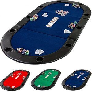 Table-de-Poker-Pliante--Poser-Deluxe-avec-Sac-de-Transport-208-x-106-x-3-cm-Panneau-MDF-accoudoires-rembourrs-10-Porte-gobelets-0