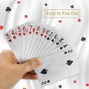 joyoldelf-Jeu-de-Carte-54-Cartes-de-Poker-Feuille-dargent-tanches-Jeu-de-Carte-Magie-Outil-de-comptences-Classic-Magic-Poker-Argent-0-0