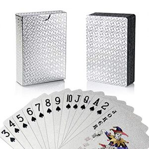 joyoldelf-Jeu-de-Carte-54-Cartes-de-Poker-Feuille-dargent-tanches-Jeu-de-Carte-Magie-Outil-de-comptences-Classic-Magic-Poker-Argent-0