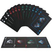 joyoldelf-Jeu-de-Carte-Cartes--Jouer-en-PVC-Impermable-Innovant-Cartes-de-Poker-en-Plastique-avec-Le-Dos-Noir-pour-Le-Tour-de-Cartes-Le-Tour-de-Magie-et-la-Partie-0