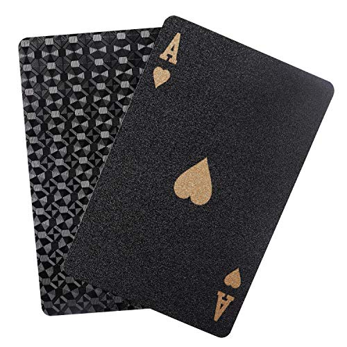 BELLE-VOUS-Jeu-de-Carte-Paquet-de-Carte-Etanche-Diamant-Noires-Cartes-de-Poker-Magique-Jeu-de-Cartes-Standard-Professionnel-avec-Bote-Cadeau-Parfait-pour-Les-Ftes-et-Les-Jeux-0