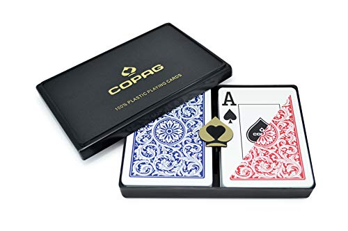 Copag-Poker-Taille-Jumbo-Index-1546-Jeu-de-Cartes-Bleu-Rouge-Setup-0