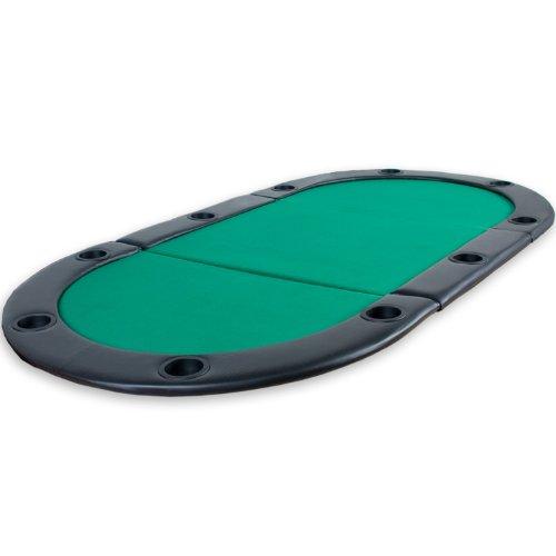 Table-de-Poker-Pliante–Poser-Deluxe-avec-Sac-de-Transport-208-x-106-x-3-cm-Panneau-MDF-accoudoires-rembourrs-10-Porte-gobelets-Vert-0