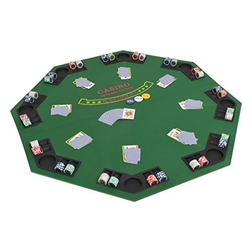 Tidyard-Table-de-Poker-Pliable-Forme-Octogonale-Vert-Convient–Un-Maximum-de-8-Joueurs-120-x-120-cm-0