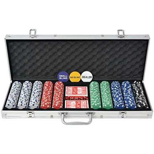 vidaXL-Jeu-de-Poker-avec-500-Jetons-Aluminium-Multicolore-Ds-de-Casino-Maison-0
