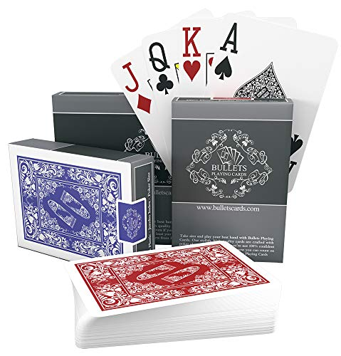 Bullets-Playing-Cards-two-decks-of-waterproof-designer-poker-cards-in-deluxe-100-plastic-with-jumbo-index–professional-premium-playing-cards-for-Texas-Holdem-Poker-0