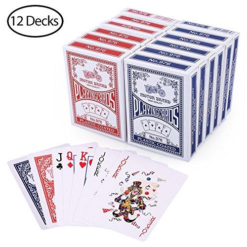 LotFancy-12-Decks-Jeux-de-Carte-54-de-Poker-Playing-Cards–Index-Standard-6-Bleu6-Rouge-Cartes–Jouer-en-Carton-Lisse-Parfait-pour-Fte-Cadeaux-Jeux6388cm-0